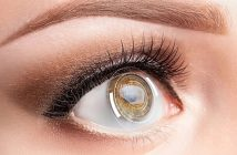 Quelle lentille de couleur pour des yeux marron